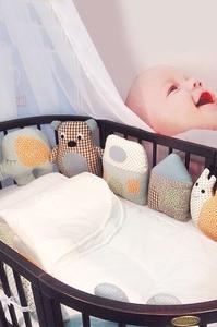 """Комплект постельного белья ComfortBaby Colorit """"Зверюшки"""" (6 бортиков-игрушек)"""